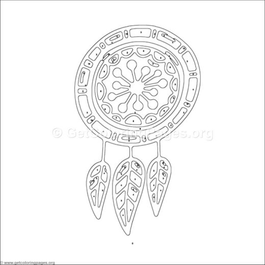 Color By Number Dreamcatcher Coloring Pages