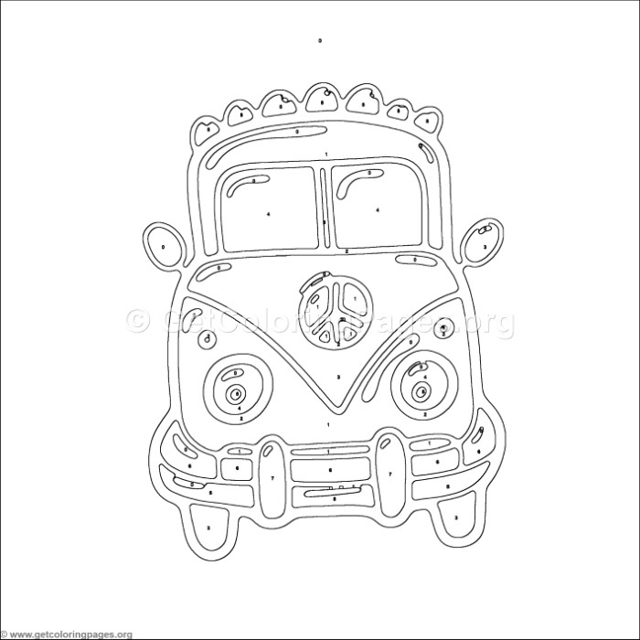 Color by Number Old Car Coloring Pages - GetColoringPages.org