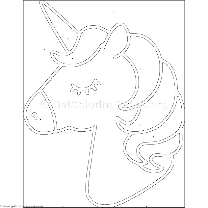 Color by Number Unicorn Coloring Pages - GetColoringPages.org