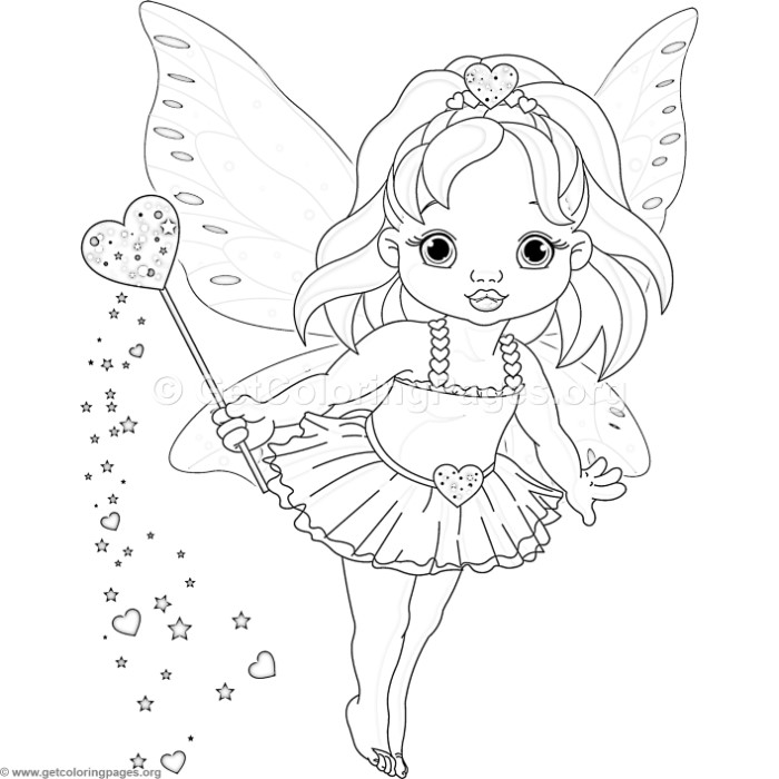Cute Love Fairy Coloring Pages - GetColoringPages.org