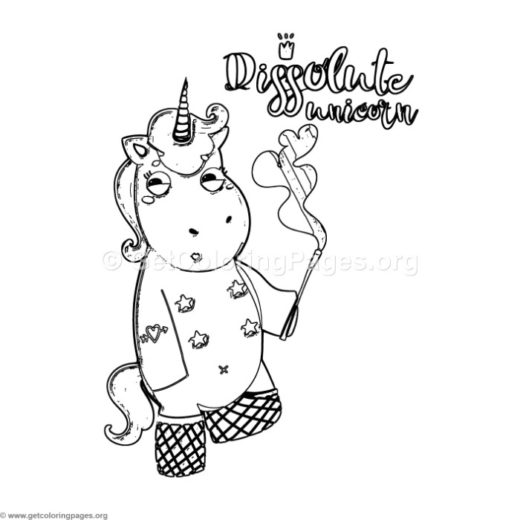 pretty unicorn coloring pages