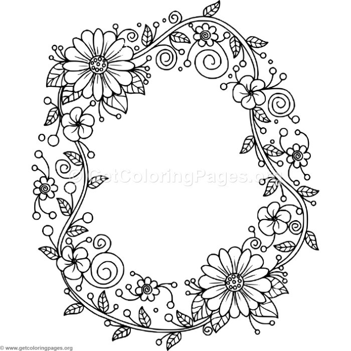 Floral Alphabet Letter O Coloring Pages – GetColoringPages.org