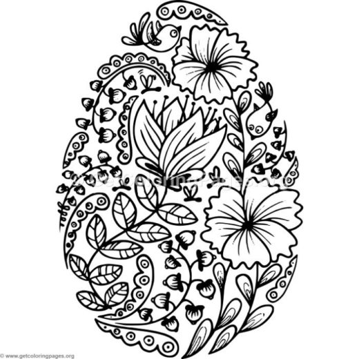 Easter egg patterns for Easter mosaic coloring pages