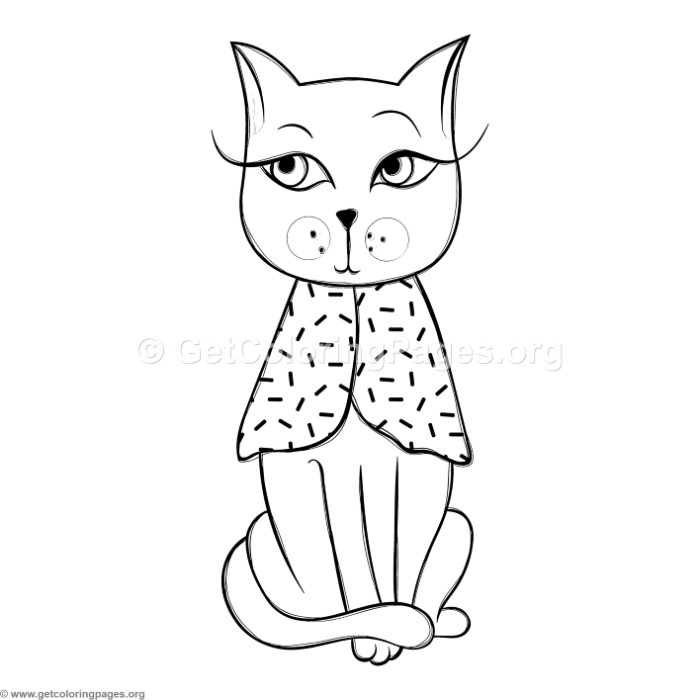 Funny Cat 9 Coloring Pages