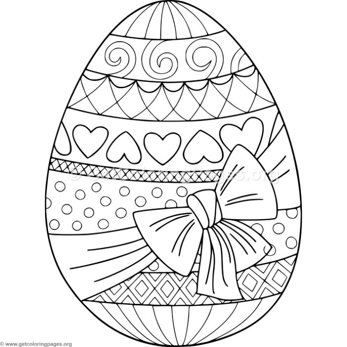 Gift Wrapped Easter Egg Coloring Pages – GetColoringPages.org