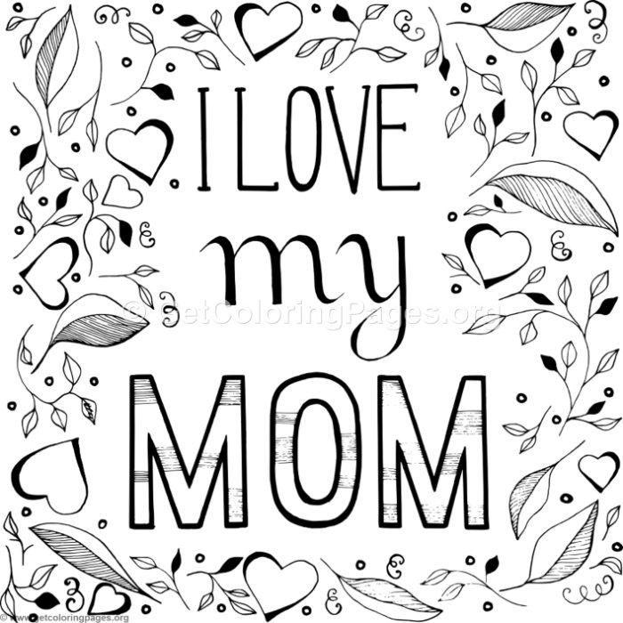 i love my daughter coloring pages | I Love My Mom Coloring Pages – GetColoringPages.org