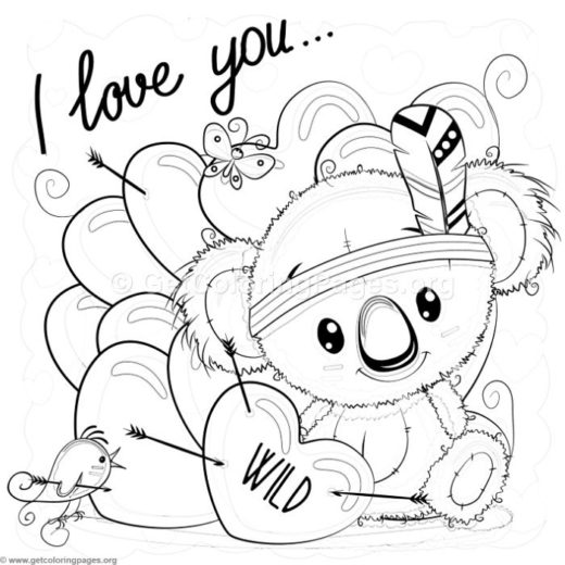 I Love You Wild Koala Coloring Pages