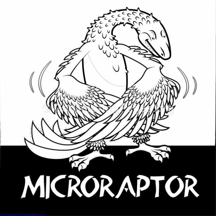 Microraptor Cute Dinosaurs Coloring Pages