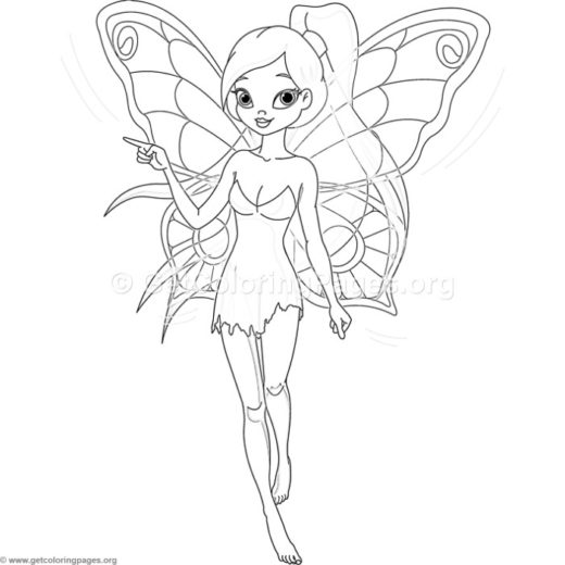 fairy coloring pages for kids – GetColoringPages.org