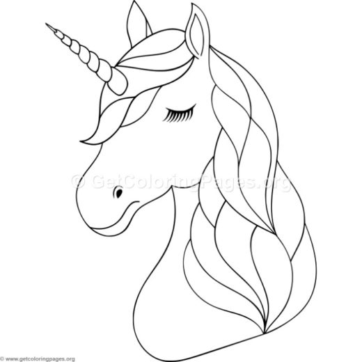 unicorn head coloring pages – GetColoringPages.org