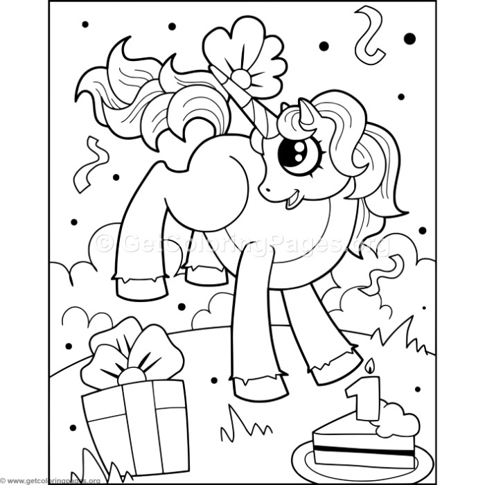 Unicorn and Cake Coloring Pages – GetColoringPages.org