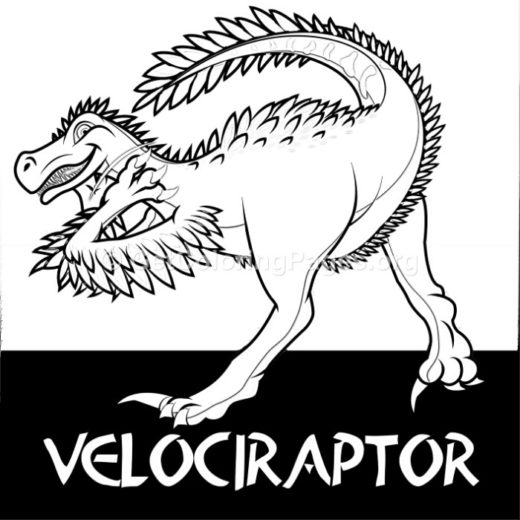 Velociraptor Cute Dinosaurs Coloring Pages