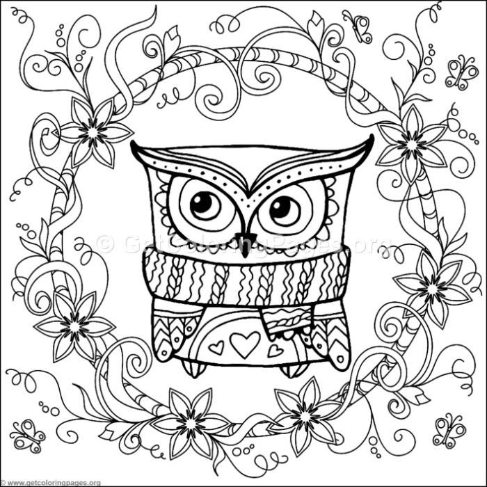 zentangle christmas owl coloring pages