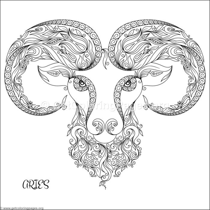 Zodiac Sign Aries Coloring Pages - GetColoringPages.org