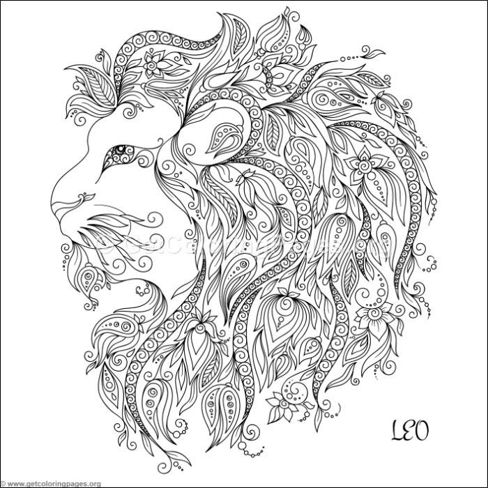 Zodiac sign leo coloring pages for Leo coloring pages
