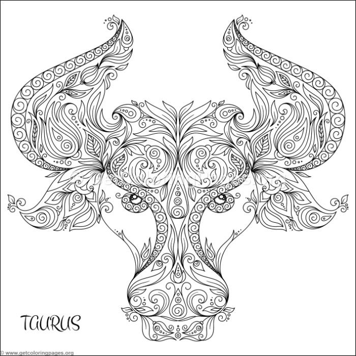 Taurus Coloring Pages - Worksheet & Coloring Pages