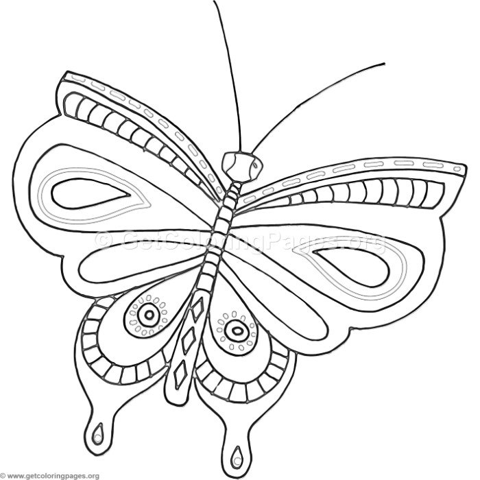 13 Fantasy Flower Butterfly Coloring Pages ...