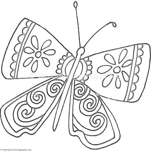 cartoon butterfly coloring pages – GetColoringPages.org
