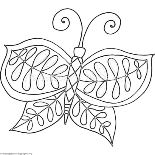 4 Fantasy Flower Butterfly Coloring Pages