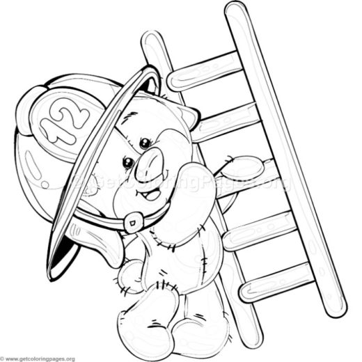 free teddy bear firefighter coloring pdf – GetColoringPages.org