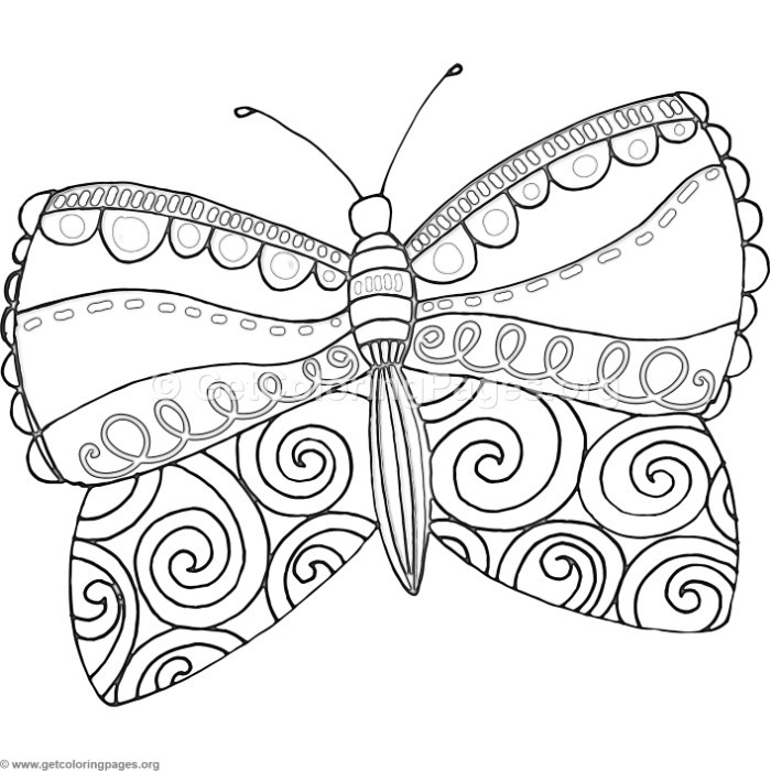 9 Fantasy Flower Butterfly Coloring Pages – GetColoringPages.org