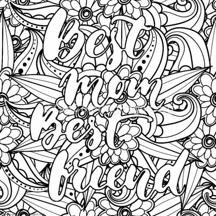 Best Mom Best Friend Coloring Pages GetColoringPages