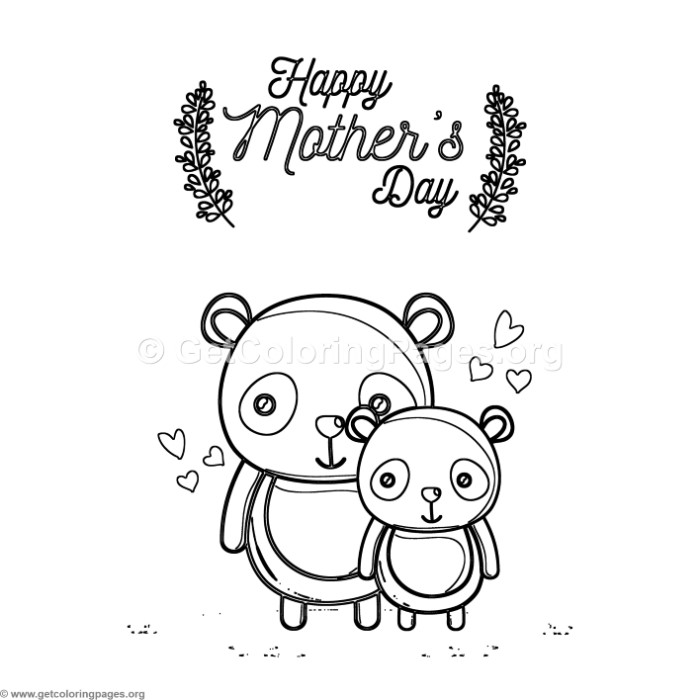Cute Cartoon Panda Happy Mother s