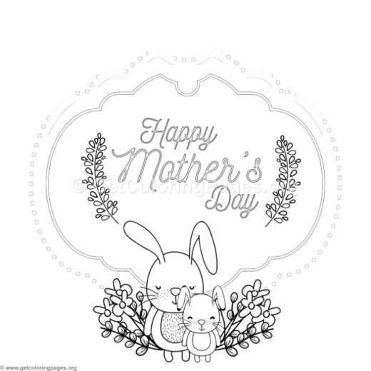 Mothers day coloring card template getcoloringpages cute rabbit mothers day card coloring pages maxwellsz