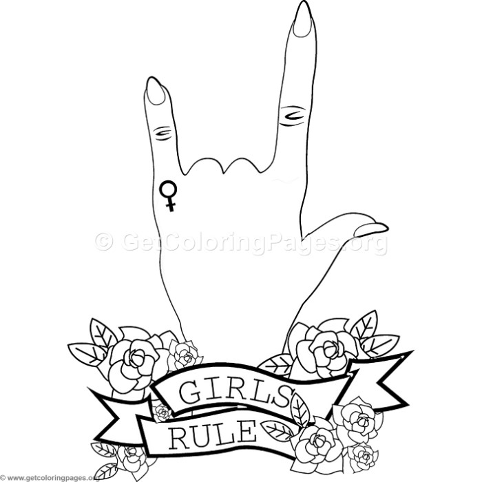 Girls Rule Coloring Pages GetColoringPages