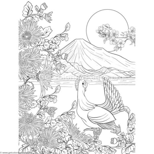 japanese coloring pages for adults