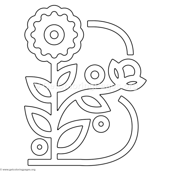 Modern Flower Alphabet Letter B Coloring Pages – GetColoringPages.org