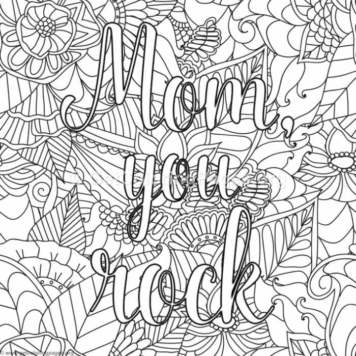 Mom You Rock Coloring Pages Getcoloringpages Org