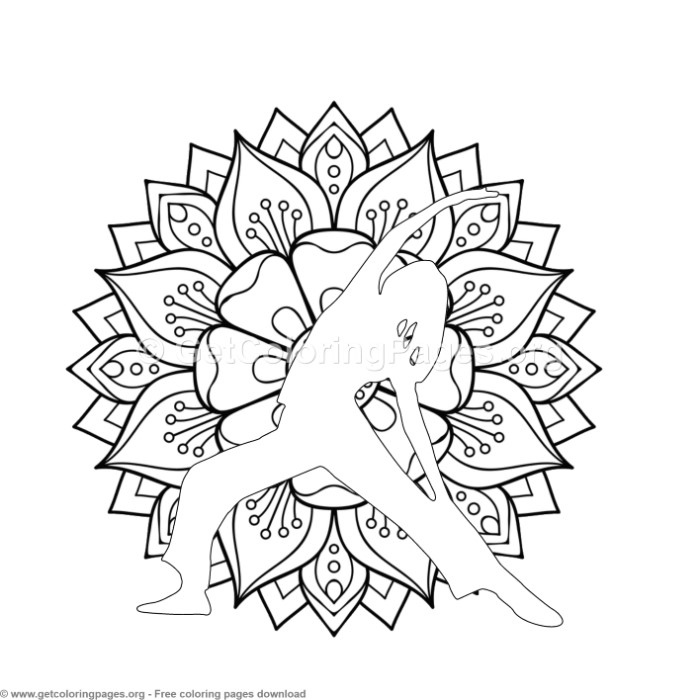 1 Yoga Pose Mandala Coloring Pages