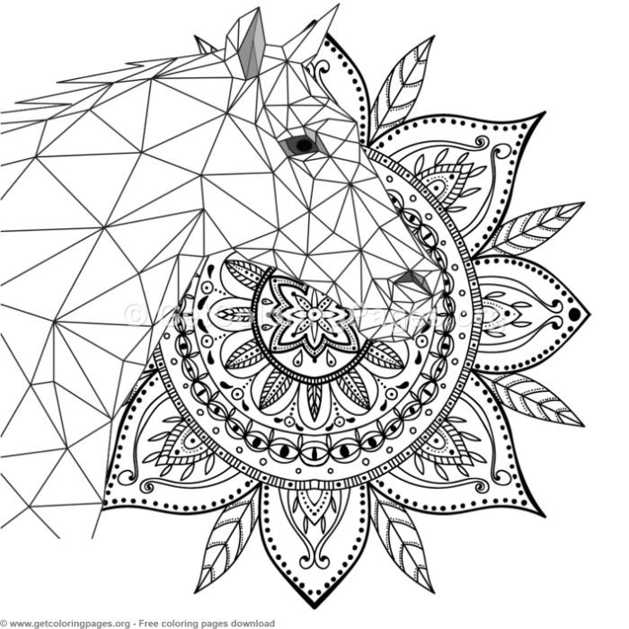 6 Horse Mandala Coloring Pages GetColoringPages