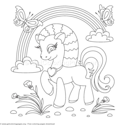 my little pony coloring pages pdf getcoloringpages org