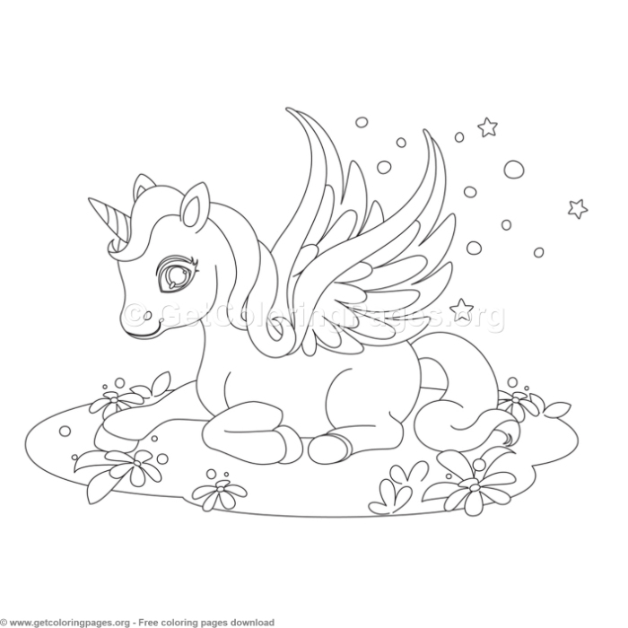 Baby Fantasy Unicorn Coloring Pages