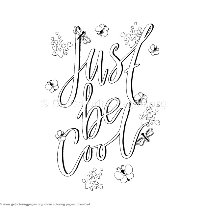 Just Be Cool Coloring Pages – GetColoringPages.org