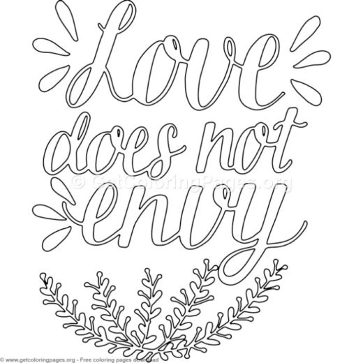 Love Does Not Envy Coloring Pages