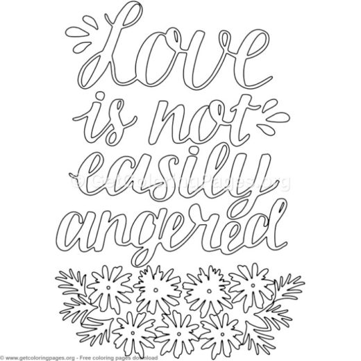 Love Is Not Easily Angered Coloring Pages