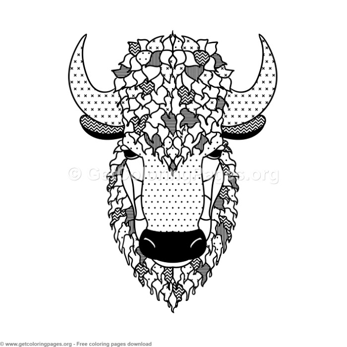 Scandinavian Style Bison Coloring Pages – GetColoringPages.org