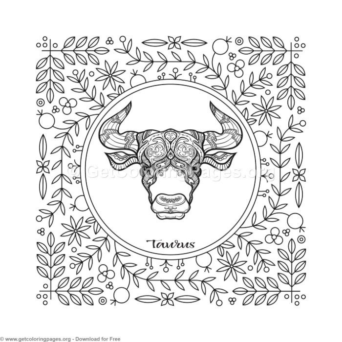 Taurus Zodiac Element Coloring