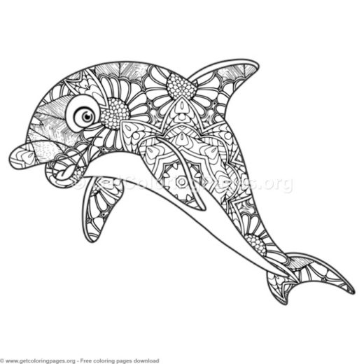 Zentangle Coloring Pages Printable Getcoloringpages Org