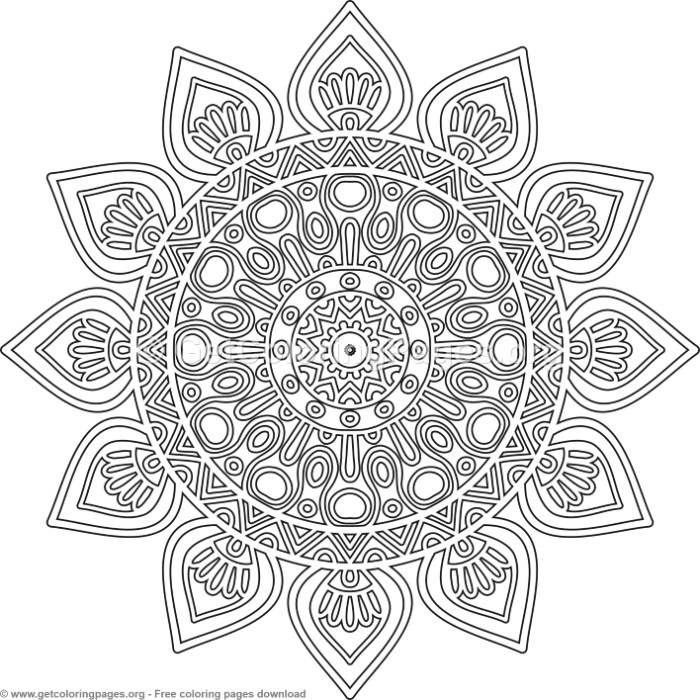 2 Simple Mandala Coloring Pages – GetColoringPages.org
