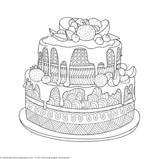 birthday cake colouring pages to print GetColoringPages
