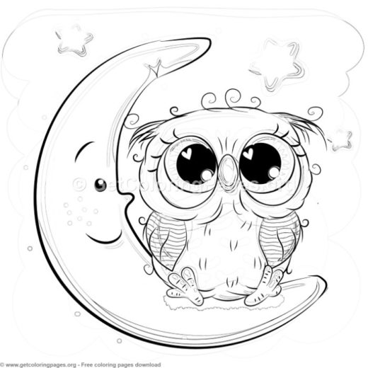 easy owl coloring pages - cute owl picture to color