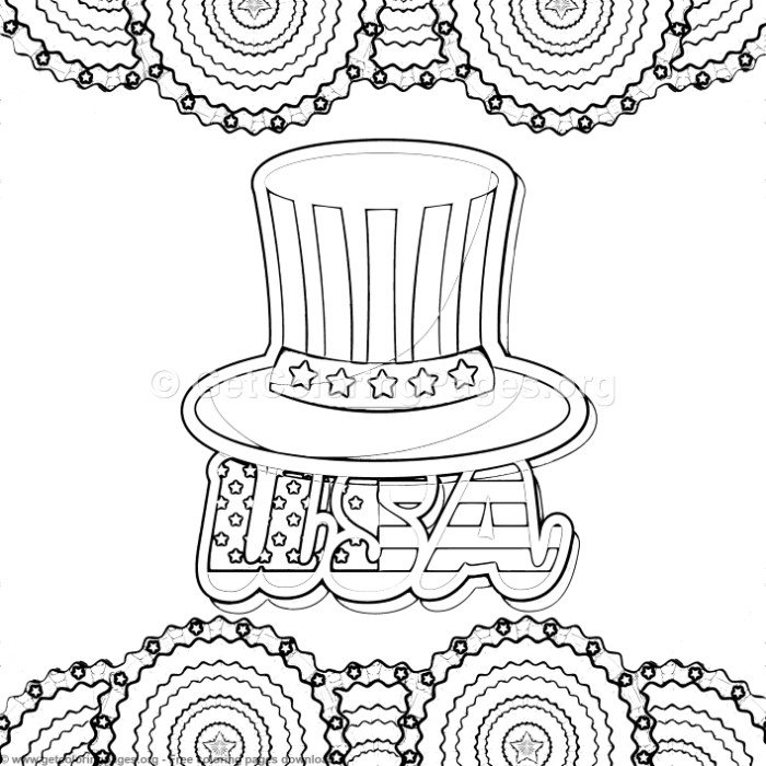 May The Fourth Be With You Coloring Pages: 4 4th Of July Coloring Pages