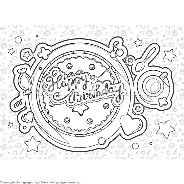 6 Happy Birthday Coloring Pages