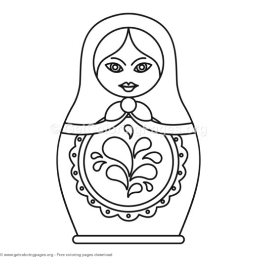 6 Russian Nesting Doll Coloring Pages