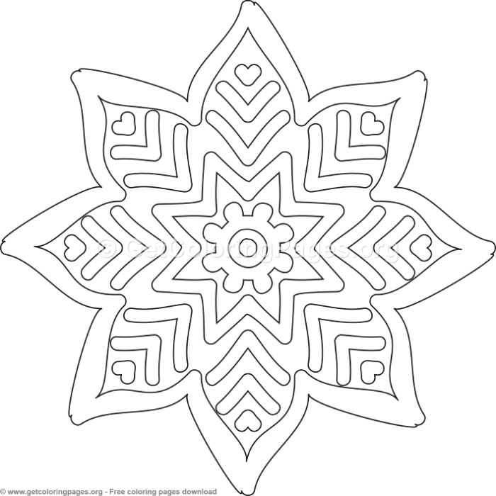 6 Simple Mandala Coloring Pages