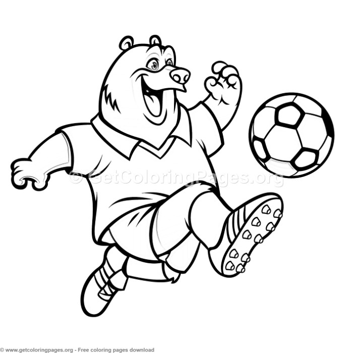 world cup soccer coloring pages   Bear Soccer World Cup Coloring Pages – GetColoringPages.org